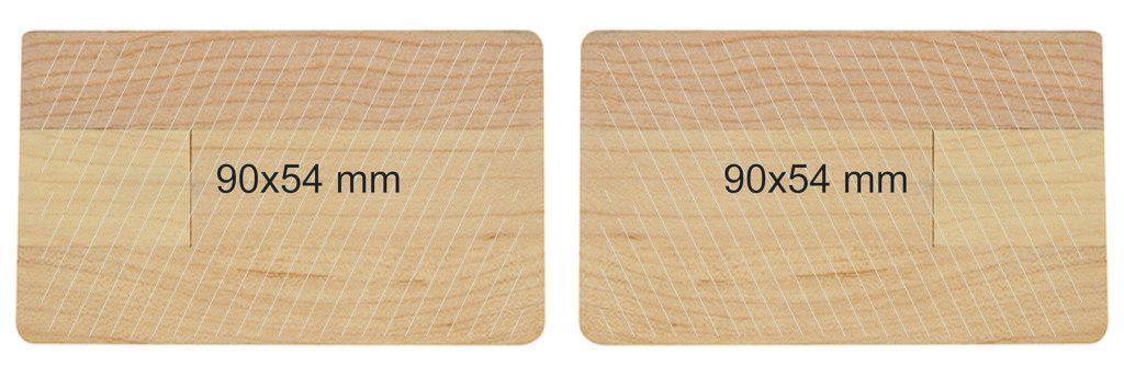 Memoria pendrive tarjeta USB madera
