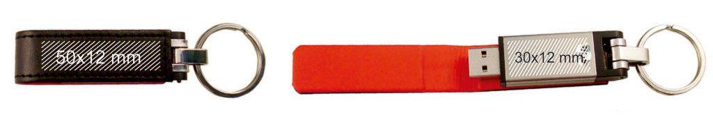 Areas marcaje pendrive USB llavero funda cuero