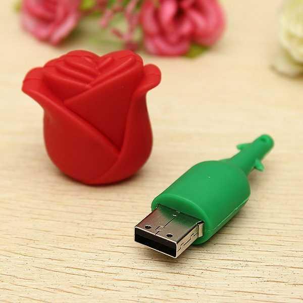 Pendrive forma de rosa memoria USB flor 3D