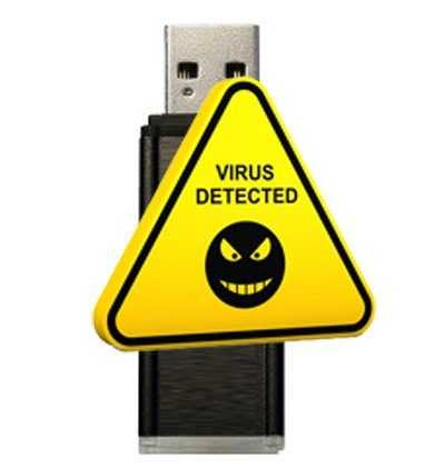 Virus detected USB