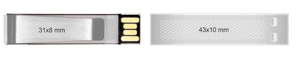 Memoria USB clip metal pendrive personalizado