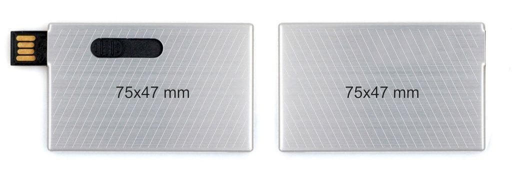 Memoria pendrive tarjeta USB metal