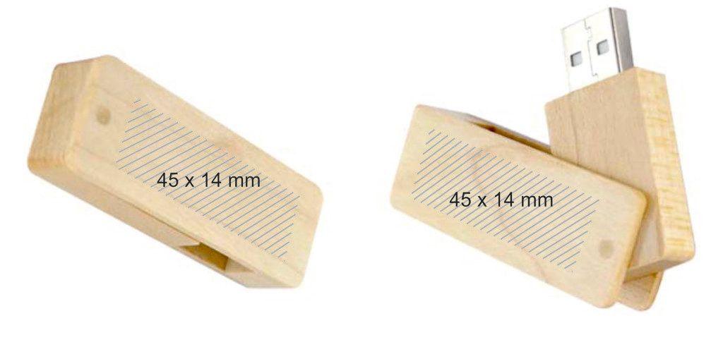 Memoria USB eco madera giratoria