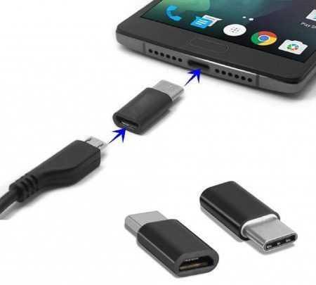 Adaptador MicroUSB a USB-C