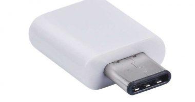 Adaptador MicroUSB a USB-C blanco