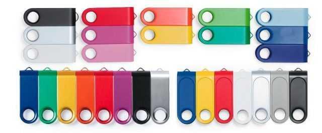 Clip memorias USB color