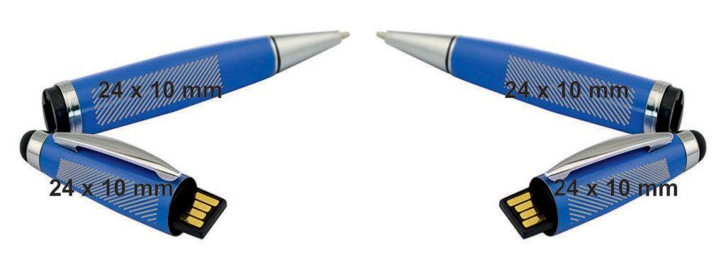 Areas marcaje logotipo pendrive USB boligrafo puntero touch