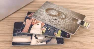Tarjeta pendrive USB para regalo de bodas