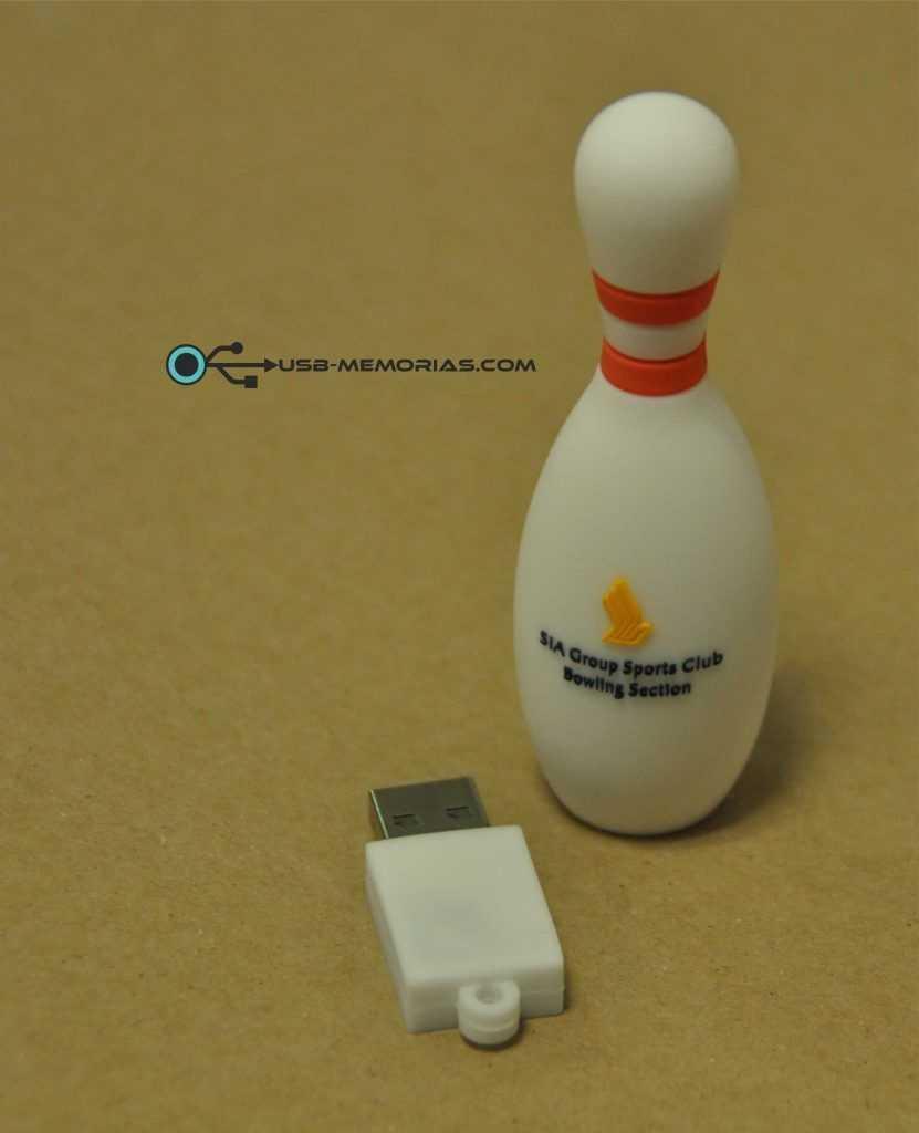 Pendrive USB forma 3D bolos