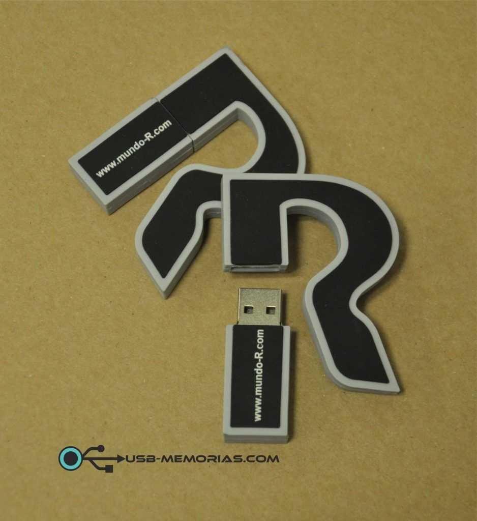 Pendrive USB con forma logotipo R