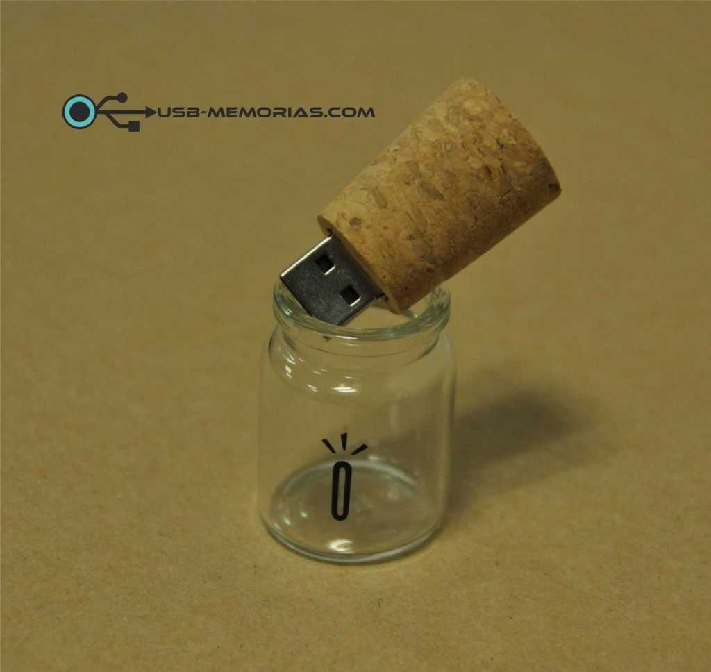 Memoria USB pendrive botella con corcho