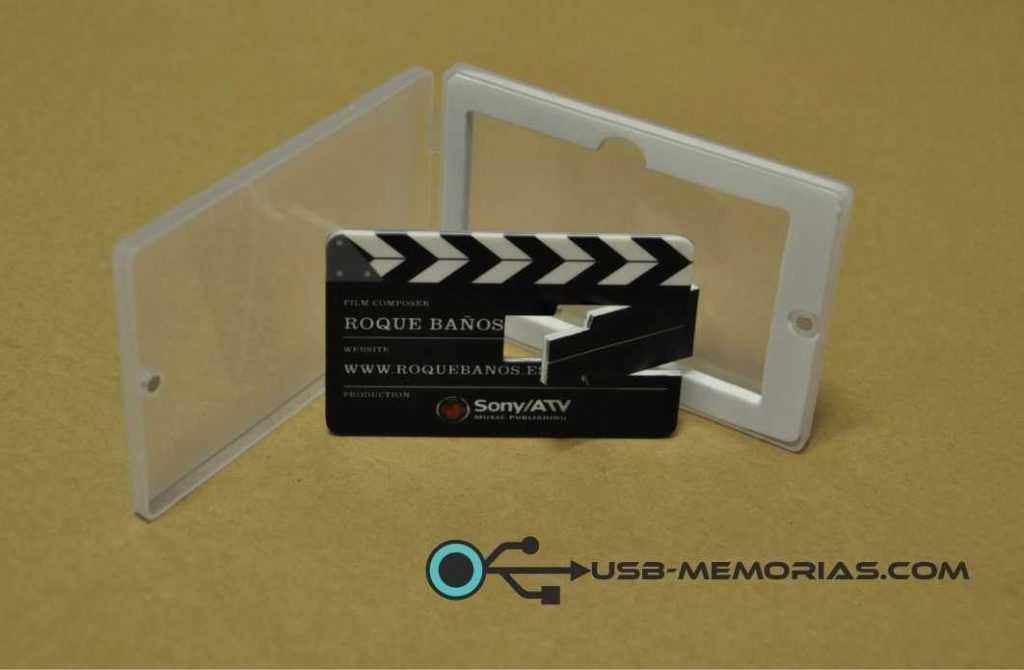 Memoria USB tarjeta en funda PVC cierre magnético