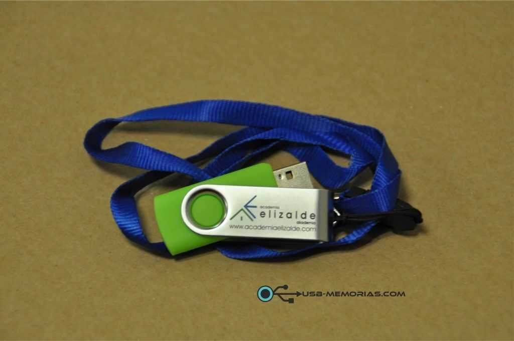 Pendrive USB giratorio con lanyard