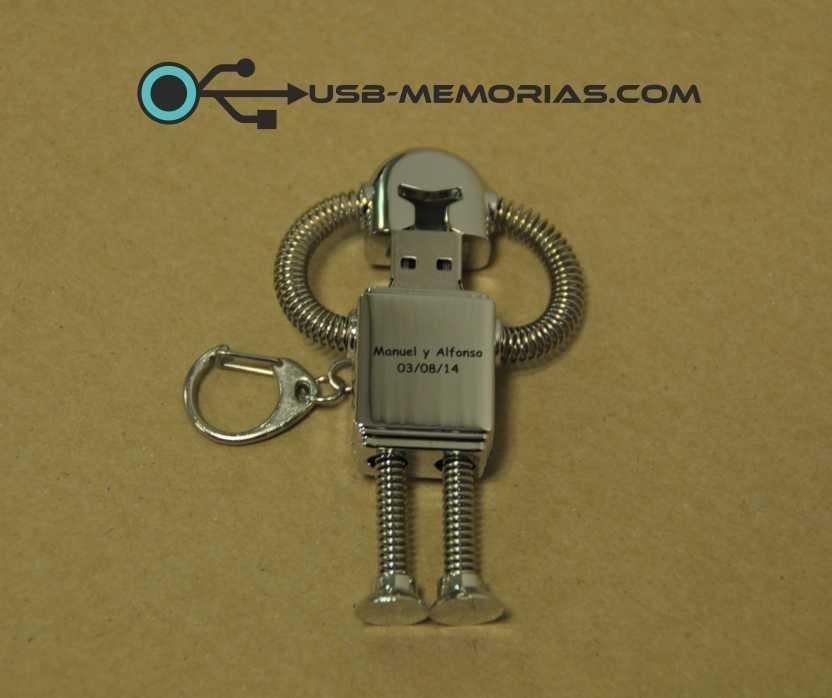 Memoria USB robot metal