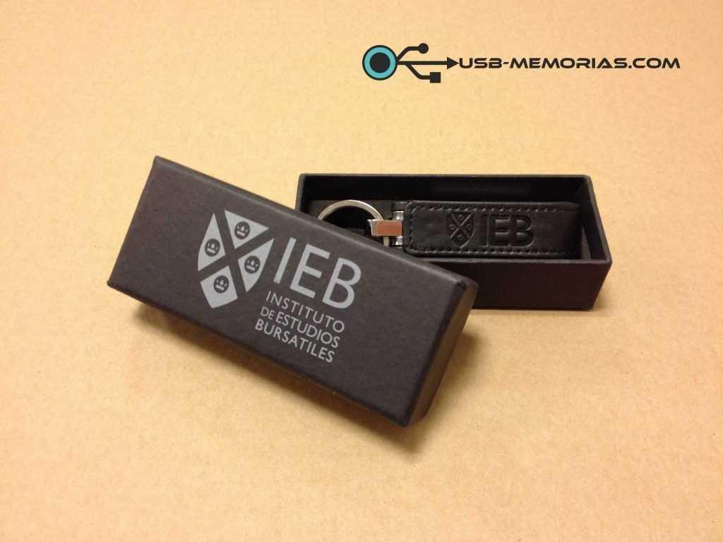 Pendrive USB cuero en estuche P07