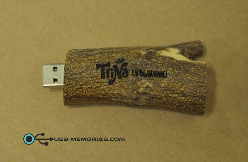 Memoria USB madera natural