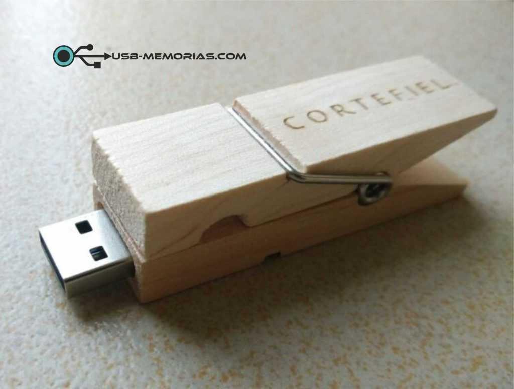 Pendrive USB pinza ropa