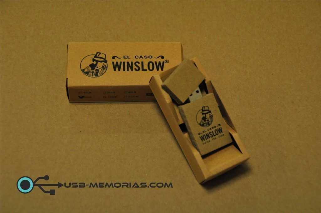 Memoria USB cartón reciclado