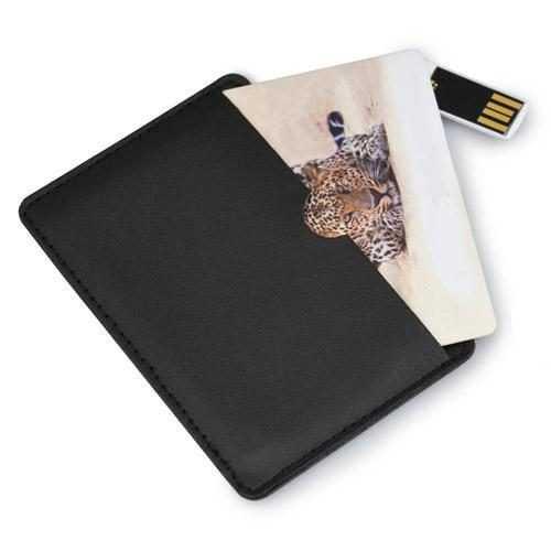 Tarjeta USB funda polipiel P15
