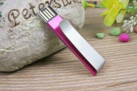 Memoria USB pendrive clip metalico