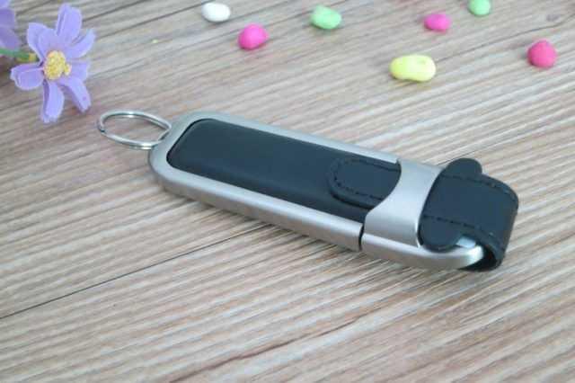 Pendrive USB metal cuero