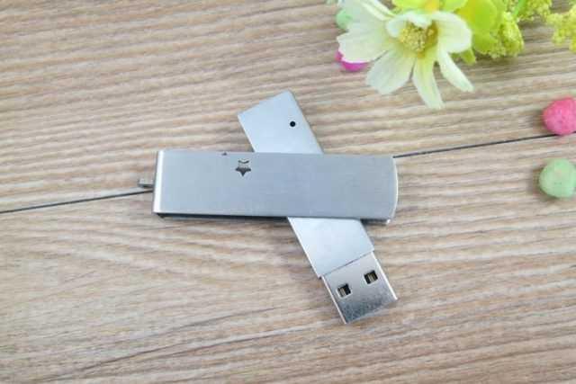 Memoria USB pendrive metal giratoria