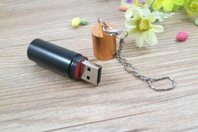 Memoria USB pila alcalina