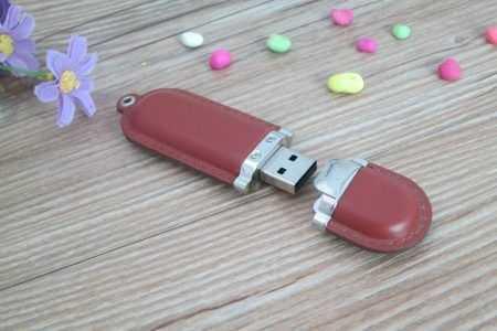 Memoria pendrive USB cuero