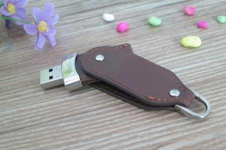 Pendrive memoria USB cuero