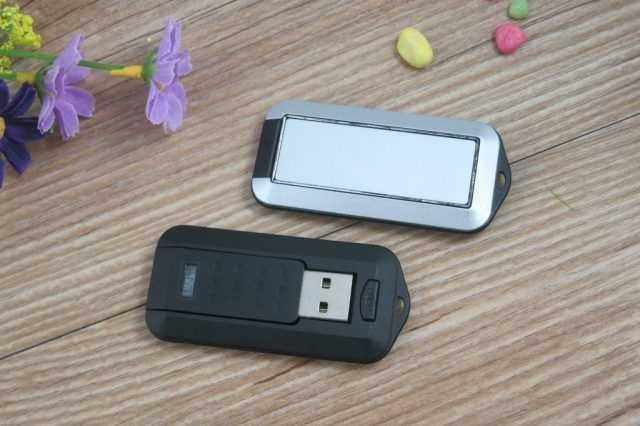 Pendrive USB retractil giratorio