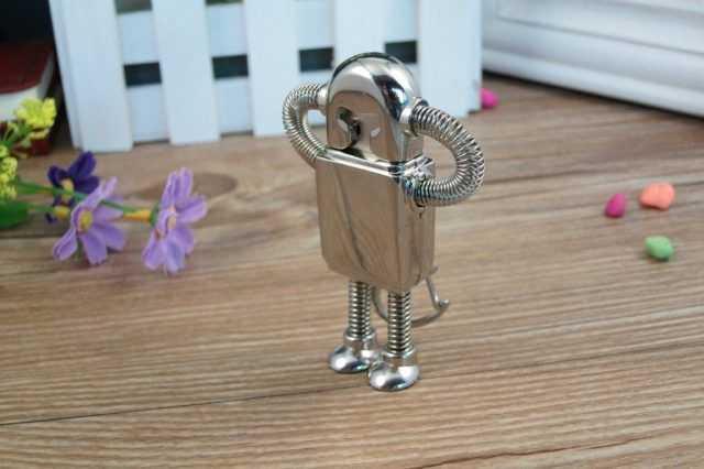Pendrive USB robot metalico