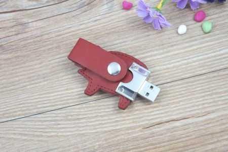 Memoria USB cuero pendrive cerdo