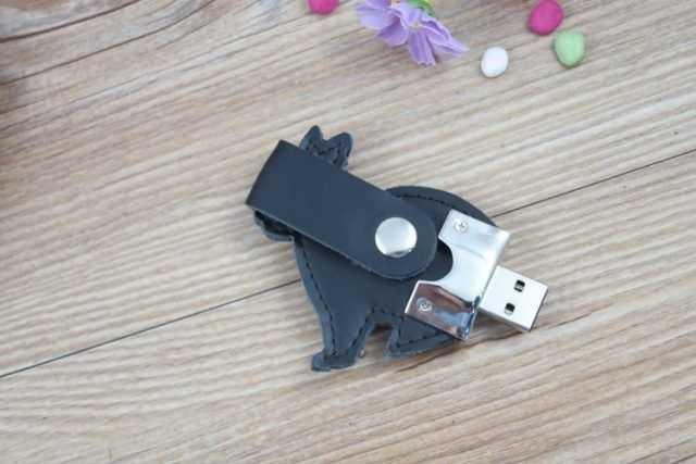 Pendrive cuero memoria USB conejo