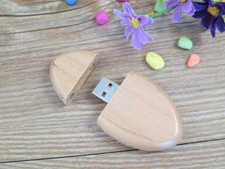 Pendrive memoria USB madera oval