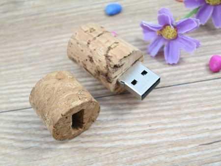 Pendrive USB corcho vino
