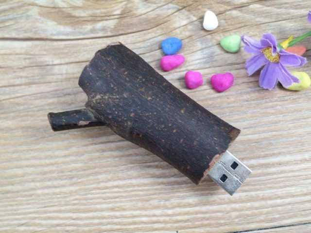 Pendrive memoria USB madera natural