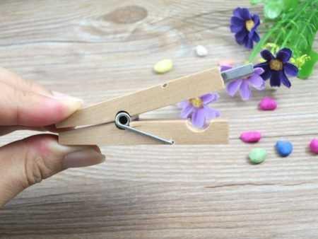 Pendrive USB pinza ropa madera