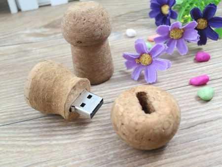 Memoria USB pendrive corcho champan