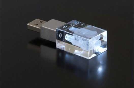 Pendrive USB cristal laser interno