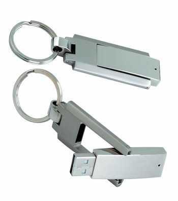 Memoria USB metal llavero giratorio