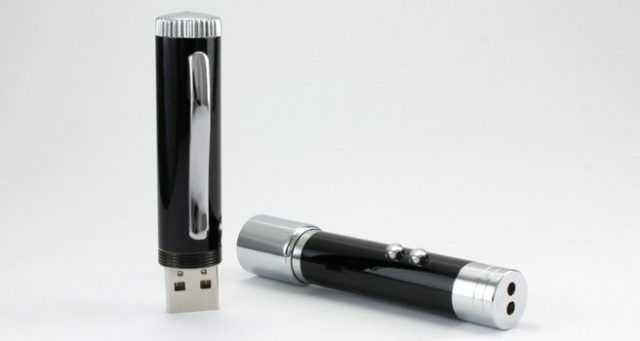 Memoria USB con función puntero láser y luz LED, de usb-memorias.com