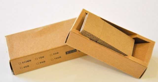 Pendrive USB carton reciclado