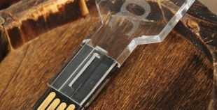 Llave USB pendrive transparente laser