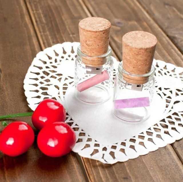 pendrive memoria usb frasco cristal corcho h3202