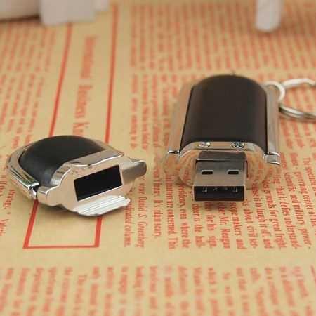Memoria USB pendrive llavero cuero
