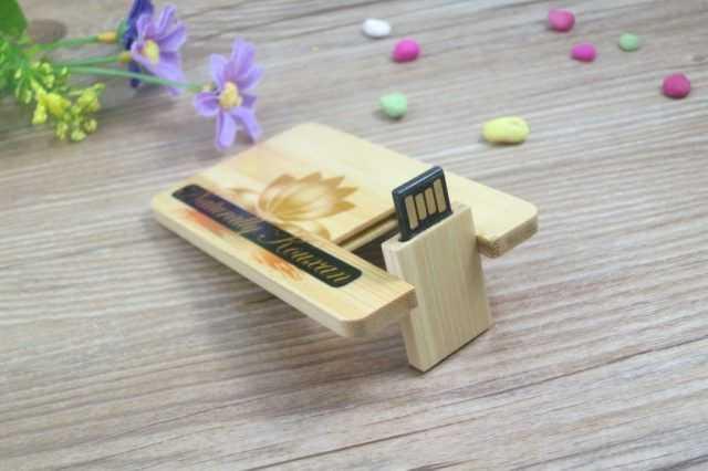 Pendrive tarjeta memoria USB madera