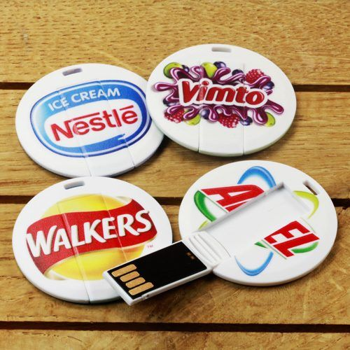 Pendrive memoria tarjeta USB circular