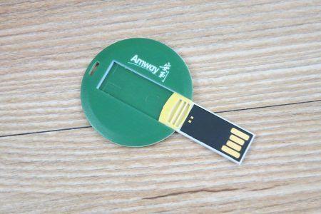 Tarjeta USB circular memoria pendrive
