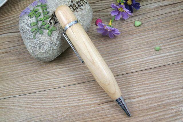 Boligrafo pendrive USB madera