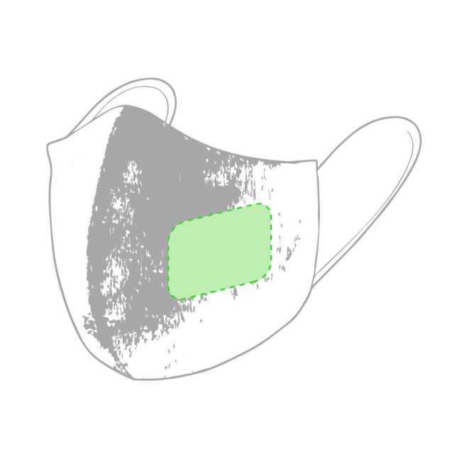 Superficie personalización mascarilla reutilizable